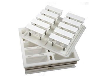 Plastic pressing blok-moulds