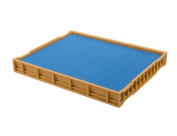 Double-sided plastic draining tray