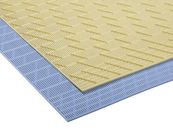 Yellow and blue draining mats