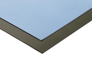 Black and blue Saniclaie draining mats