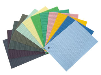 Color panel draining mats